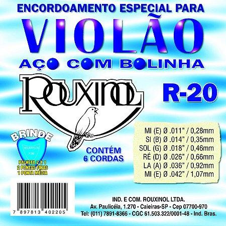 ENC. ROUXINOL VIOLÃO AÇO C/ BOLINHA