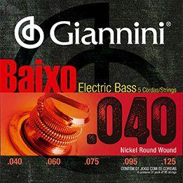ENC. GIANNINI BAIXO NIQUEL 0.040 - 5 CORDAS