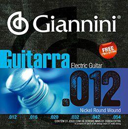 ENC. GIANNINI GUITARRA NIQUEL 0.012