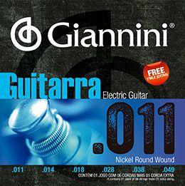ENC. GIANNINI GUITARRA NIQUEL 0.011