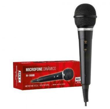 MICROFONE M-1800 B PRETO CABO 3,00m