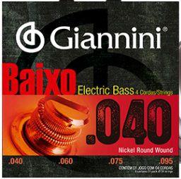 ENC. GIANNINI BAIXO NIQUEL 0.040 - 4 CORDAS