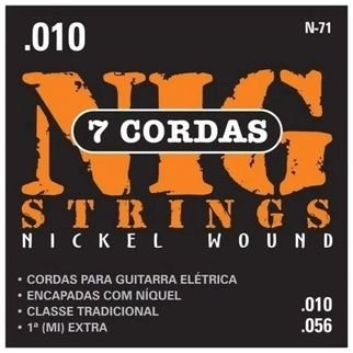 ENC. NIG GUITARRA 7 CORDAS - 0,010