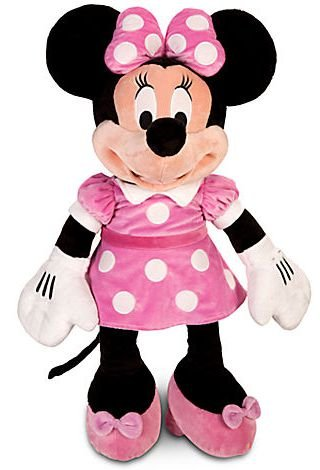 Minnie de Pelúcia Rosa Grande