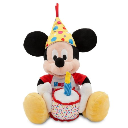 Mickey de Pelúcia Musical Happy Birthday