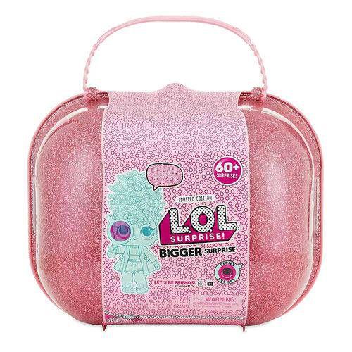 Maleta com Mini Bonecas - LOL Surprise - Bigger Surprise - 60 Surpresas