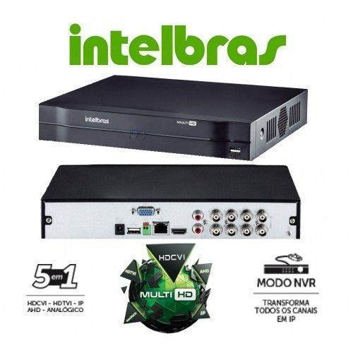 DVR INTELBRAS MULTI HD MHDX 1008 8 CANAIS