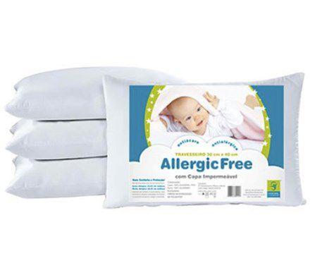 Travesseiro Antialérgico Allergic Free Bebê 30 x 40 cm