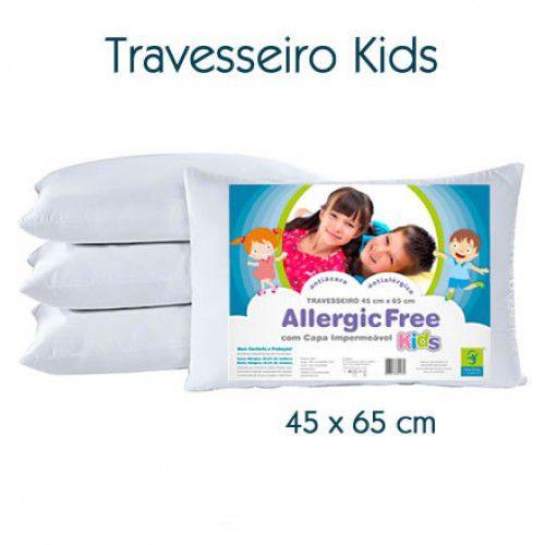 Travesseiro Antialérgico Allergic Free Júnior 45 x 65 cm