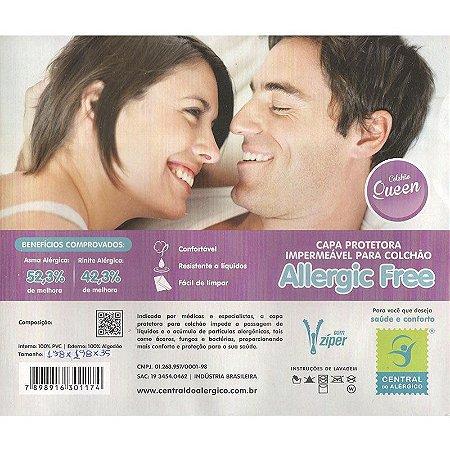 Capa Impermeável e Anti Ácaros para Colchão Queen Allergic Free