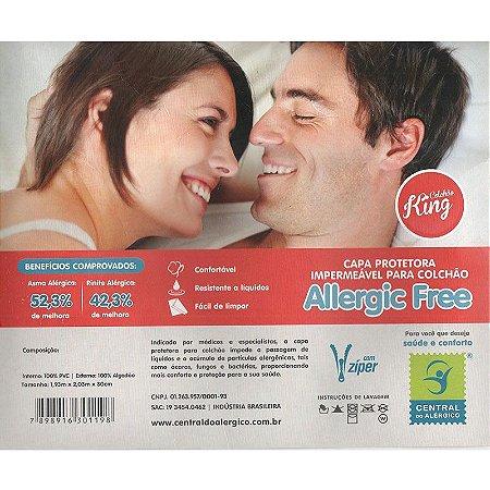 Capa Impermeável e Anti Ácaros para Colchão King Allergic Free