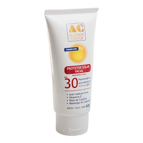 Protetor Solar Facial Allergic Center FPS 30 Hipoalergênico 60g