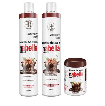Kit Nabella Shampoo + Condicionador + Máscara 250g