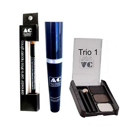 Kit de Maquiagem Hipoalergênica para Olhos Básico Cor 1