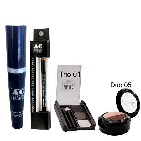 Kit de Maquiagem Hipoalergênica para Olhos Completo Cor 1 - 05