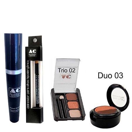 Kit de Maquiagem Hipoalergênica para Olhos Completo Cor 2 - 03