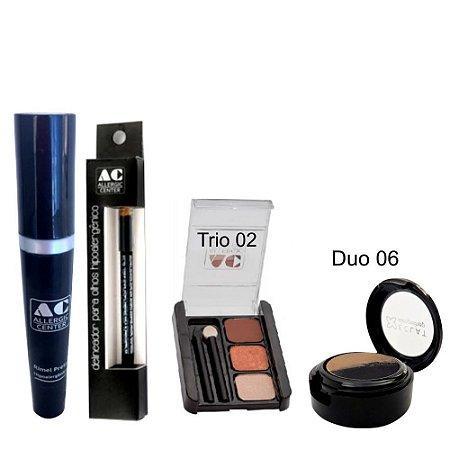 Kit de Maquiagem Hipoalergênica para Olhos Completo Cor 2 - 06