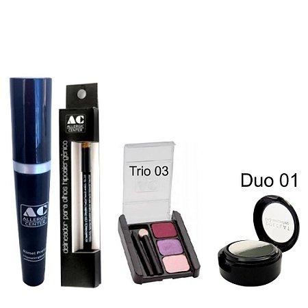 Kit de Maquiagem Hipoalergênica para Olhos Completo Cor 3 - 01
