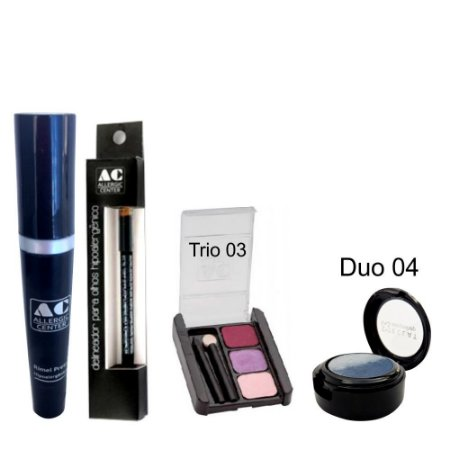 Kit de Maquiagem Hipoalergênica para Olhos Completo Cor 3 - 04