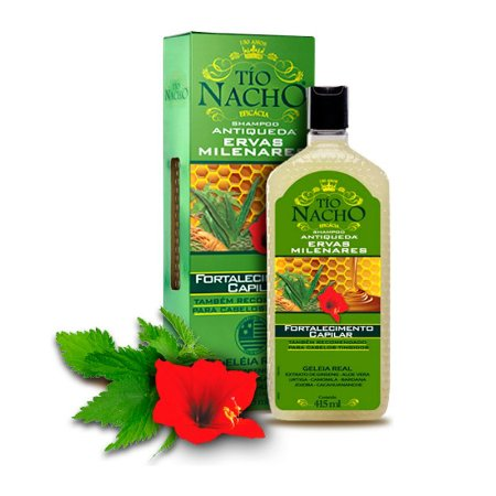 Shampoo Antiqueda Fortalecedor Ervas Milenares 415ml - Tio Nacho