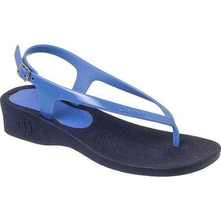 Sandália Ortopédica Cleópatra Para Esporão de Calcâneo Cor Azul