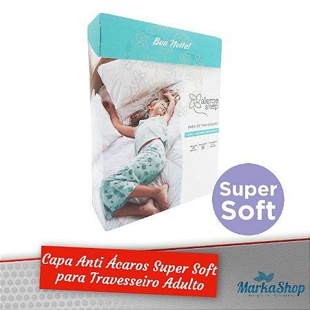 Capa para Travesseiro Super Soft Anti Ácaros Antialérgica Adulto 50 X 70 - Alergoshop