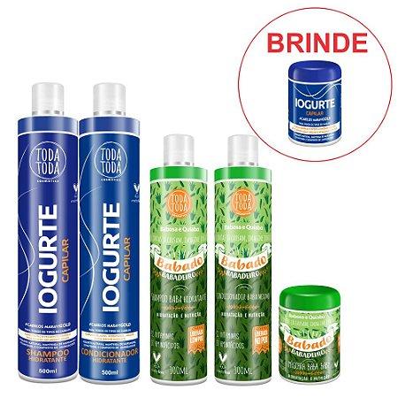Shampoo + Cond + Máscara Babado + Shampoo + Cond Iogurte Ganhe Máscara