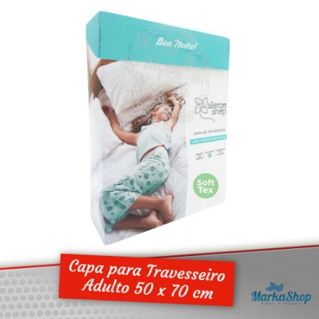 Capa para Travesseiro Soft Tex Anti Ácaros Antialérgica Adulto 50 x 70 cm – Alergoshop