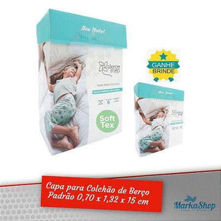 Capa para Colchão Soft Tex Berço Padrão 70 x 1,32 x 15 Anti Ácaros Antialérgica - Alergoshop