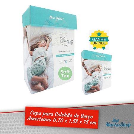 Capa para Colchão Soft Tex Berço Americano 70 x 1,52 x 15 Anti Ácaros Antialérgica - Alergoshop