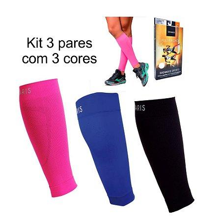 Polaina Esportiva de Compressão Pulse Road Sigvaris Kit com 3 Pares