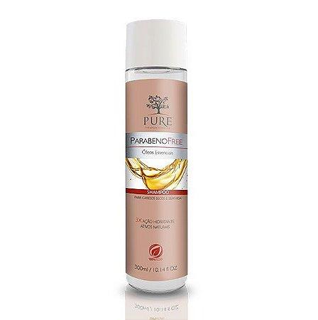 Shampoo Pure Parabeno Free Óleos Essenciais 300ml Cabelos Secos e Sem Vida
