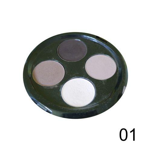 Quarteto de Sombras Top Beauty Cor 01