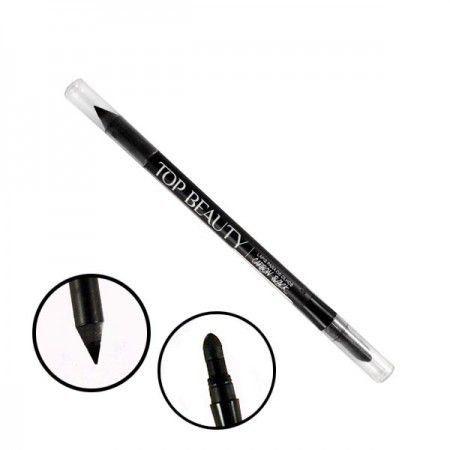 Lápis de Olho Delineador Carbon Black Prato Top Beauty