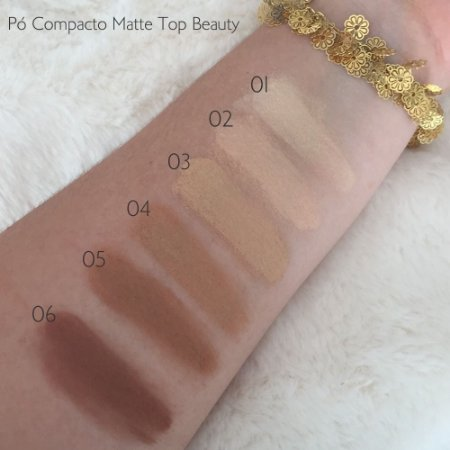 Pó Compacto Facial Matte Top Beauty