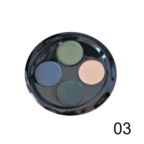 Quarteto de Sombras Top Beauty Cor 03