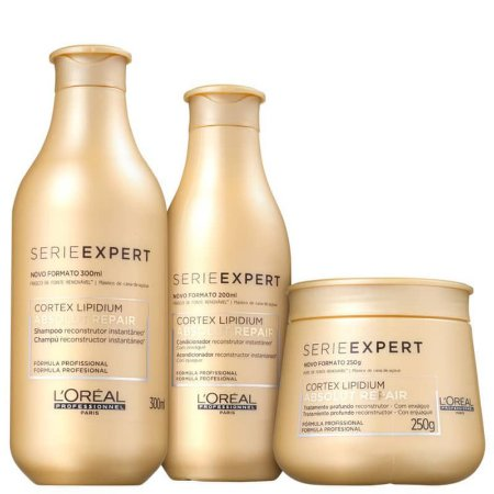 Kit de Tratamento Sh+Cond+Masc L'Oréal Professionnel Absolut Repair Lipidium