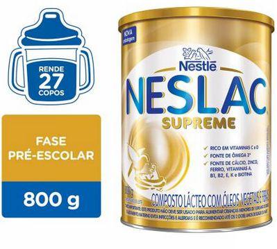 Composto Lácteo Neslac Supreme Lata 800g - Nestle