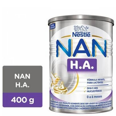 Fórmula infantil Nan H.A Lata 400g - Nestle