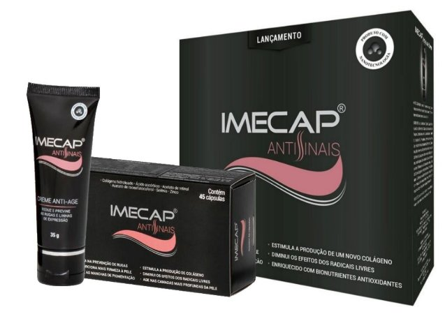 Imecap Antissinais Kit Gel Creme 35g + 45 Cápsulas