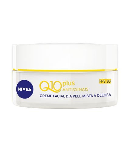 Creme Facial Nivea Q10 Plus Antissinais Pele Mista e Oleosa FPS 30 50ml