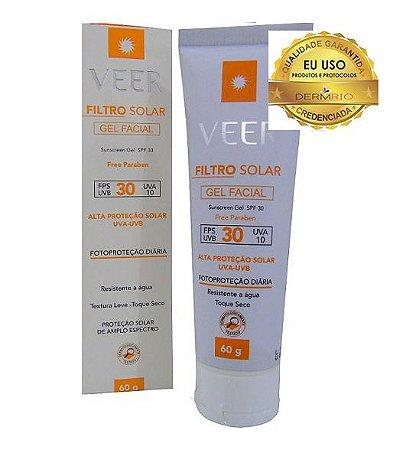 Protetor Solar Gel Creme FPS 30 Facial 60g Veer