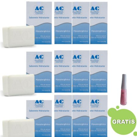 Sabonete Hidratante Hipoalergênico 80g - Allergic Center Kit c/12 Ganhe Brinde