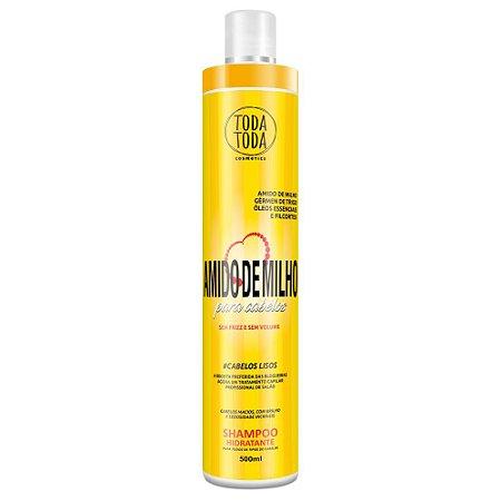 Shampoo Amido de Milho Anti Frizz 500ml Toda Toda