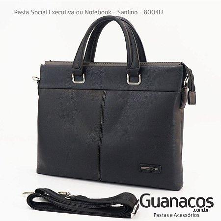 40b0cef25 Pasta Social Notebook PU - Preto - Santino SCP8004U - Guanacos ...