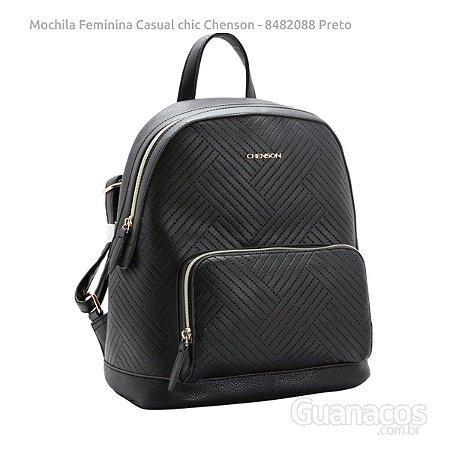 e3b122f095 Mochila Social Feminina - Relevo Casual Chic CG8482088 - Preto - Chenson