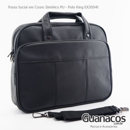 1ffa4814520 Pasta Social Executiva - Polo King 20041 - Preto - Notebook 15.4 ...