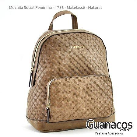 83be866efb Mochila Social Feminina - Casual Chic 8481756 - Matelassê - Natural -  Chenson