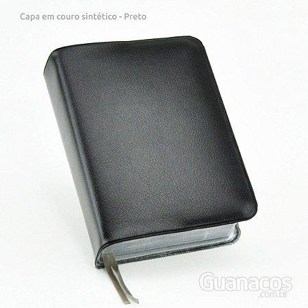 Capa de bíblia em Couro sintético - Preto