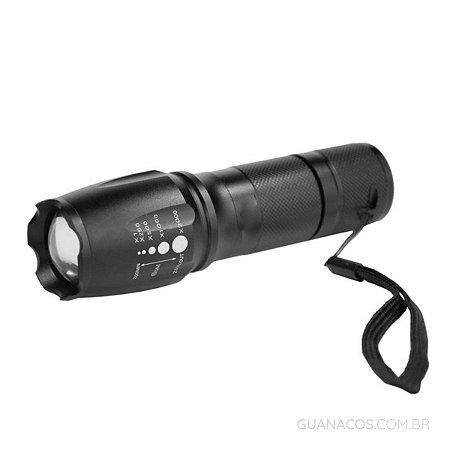 Lanterna Tática Militar X900 - LED T6 - com sinalizador - Corpo em alumínio